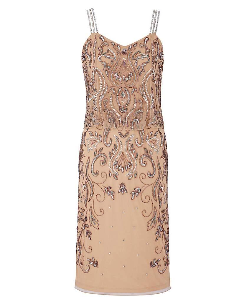 Where to Buy 1920s Dresses JOANNA HOPE Beaded Overlay Dress £33.00 AT vintagedancer.com