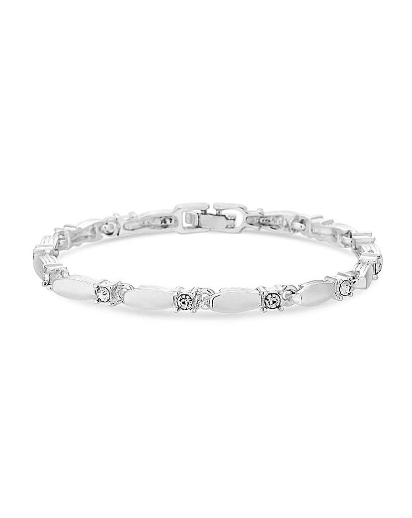 Jon Richard Jon Richard Polished Crystal Bracelet