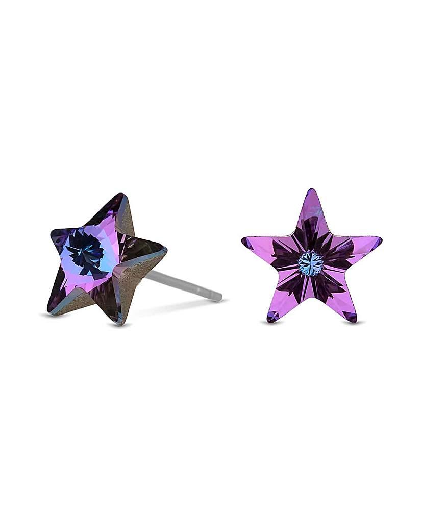 Jon Richard Vitral Star Stud Earring