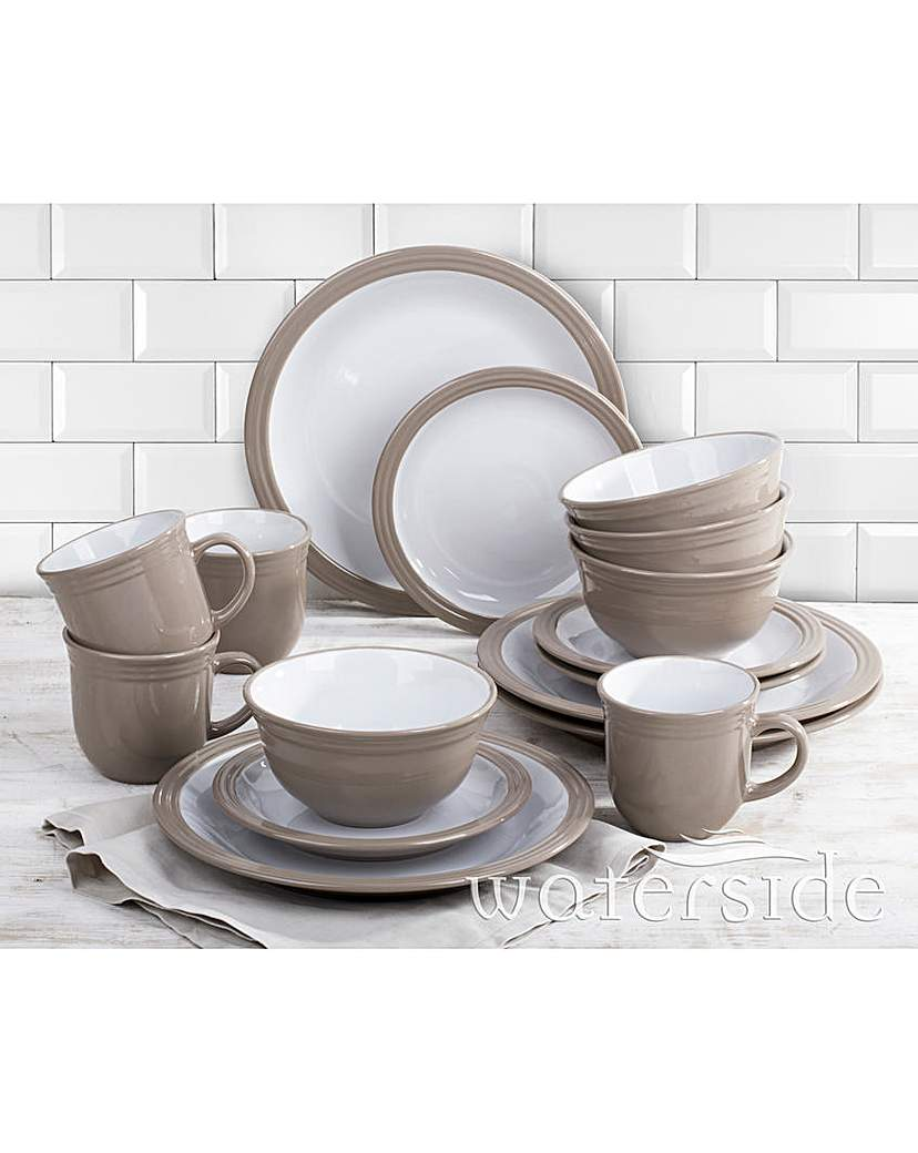 Image of 16 Piece Camden Dinner Set Taupe