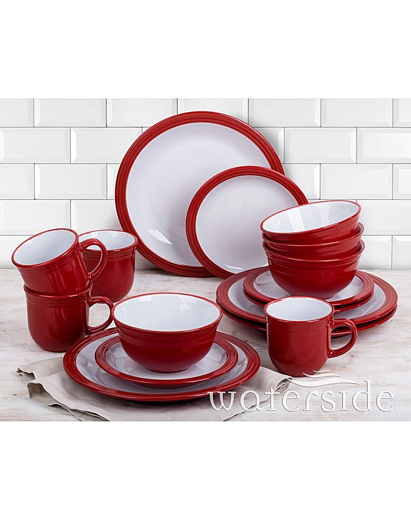 Image of 16-Piece Camden Dinner Set Red