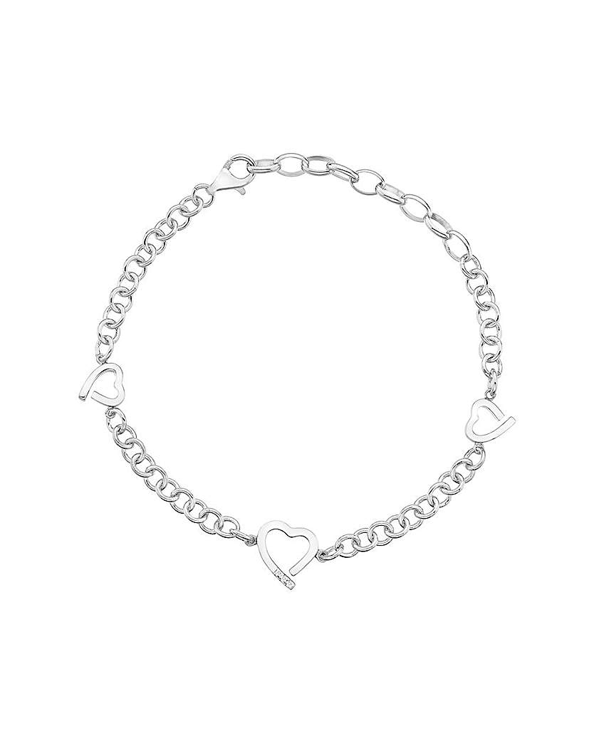 Image of            Hot Diamonds AMORE Heart Bracelet
