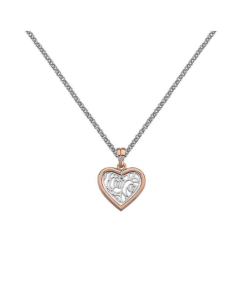 Image of            Hot Diamonds Faith Heart Pendant