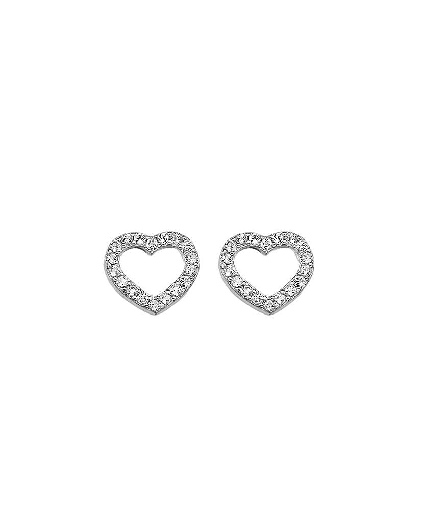 Image of Hot Diamonds Bliss Heart Earrings