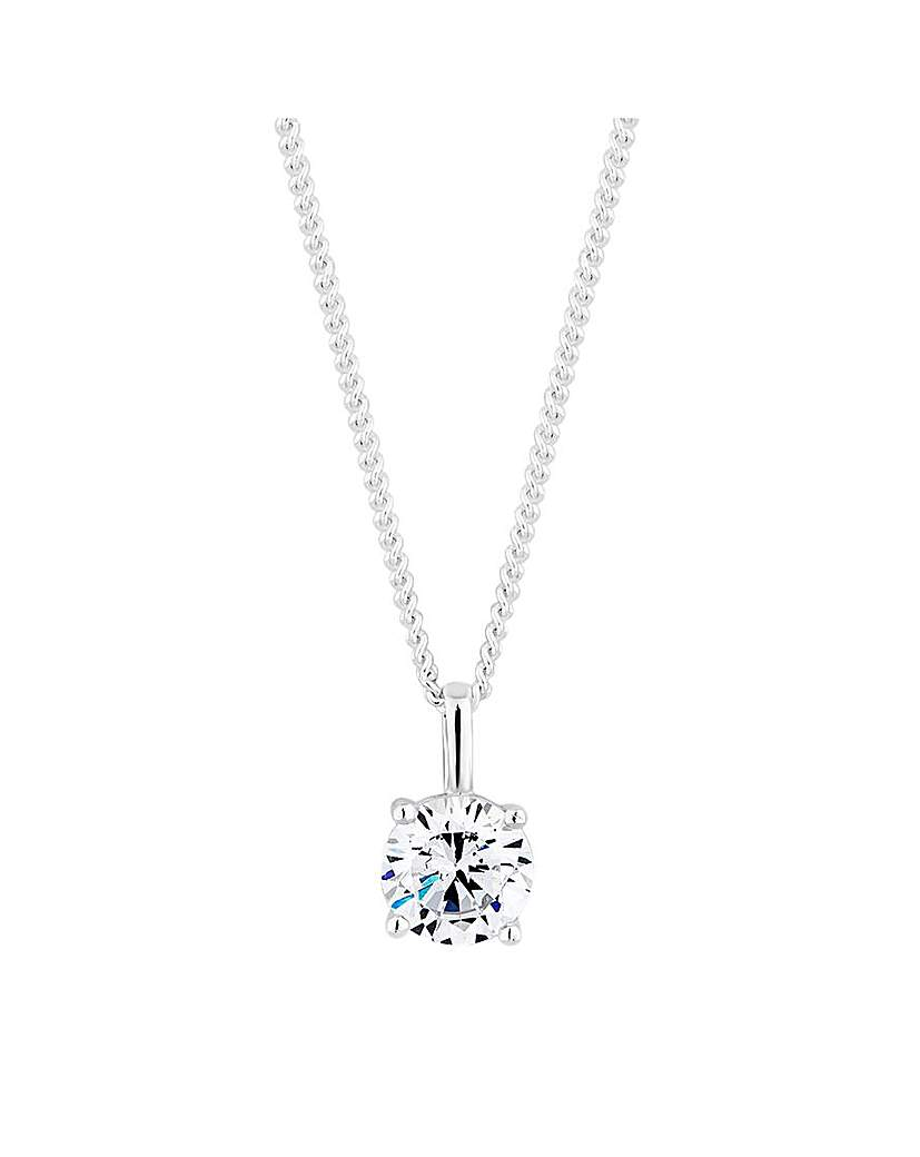 Simply Silver Pendant Necklace