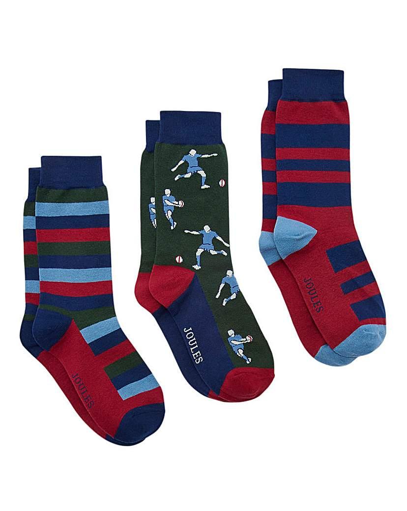 Joules Striking Socks 3 Pack