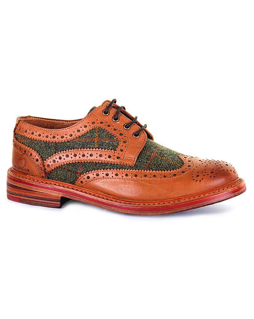 1960s Mens Shoes- Retro, Mod, Vintage Inspired Chatham Lewis II Tweed Brogues £175.00 AT vintagedancer.com