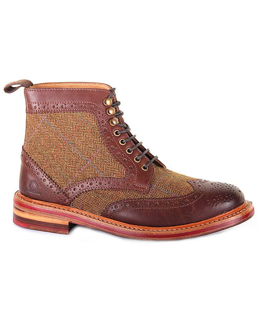 1930s Style Mens Shoes Chatham Stornoway II Tweed Boots £199.00 AT vintagedancer.com