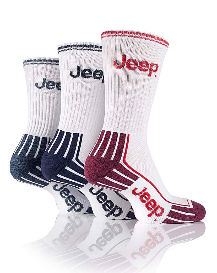3 Pair Jeep Mens Sports Socks