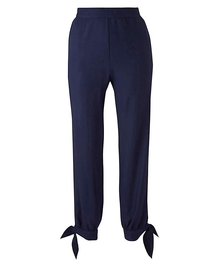 1950s Style Pants | Pinup Capri | High Waist Jeans Tie Hem Crop Trouser £20.00 AT vintagedancer.com