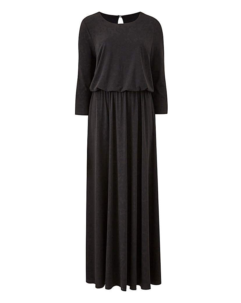 Black Plain Jersey Maxi Dress