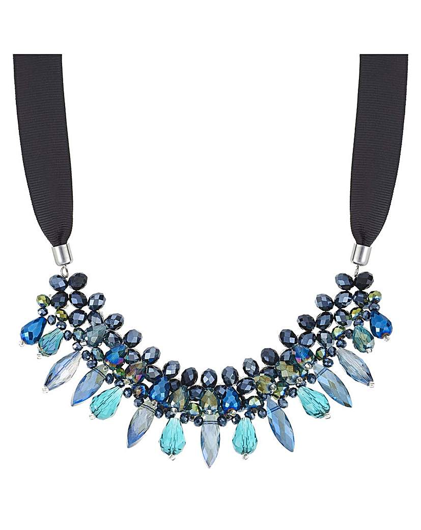 Image of Mood Facet Bead Ribbon Necklace