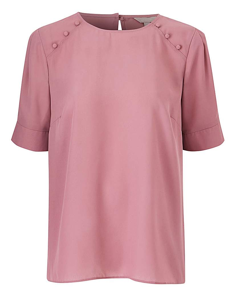 Rose Pink Puff Sleeve Blouse