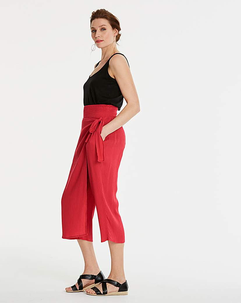 Crinkle Wrap Culottes
