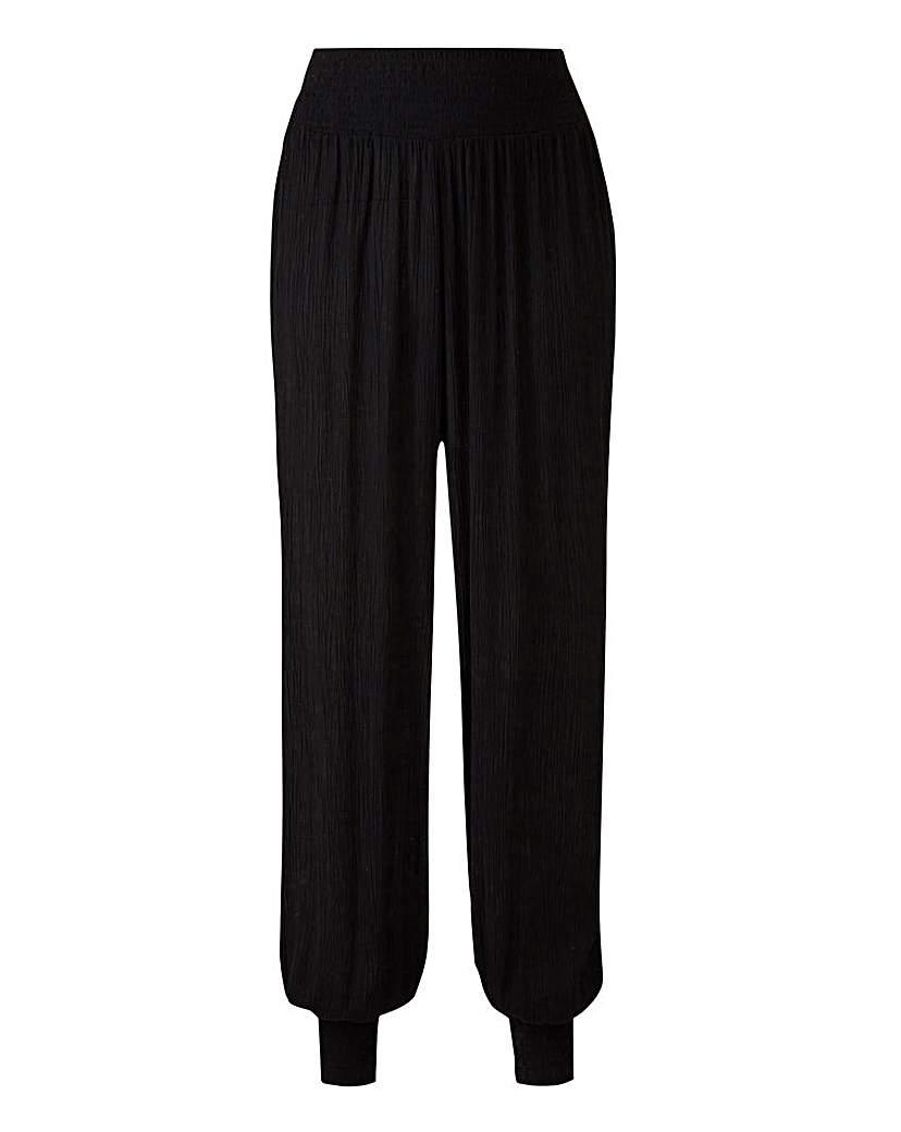 Crinkle Harem Trousers Regular