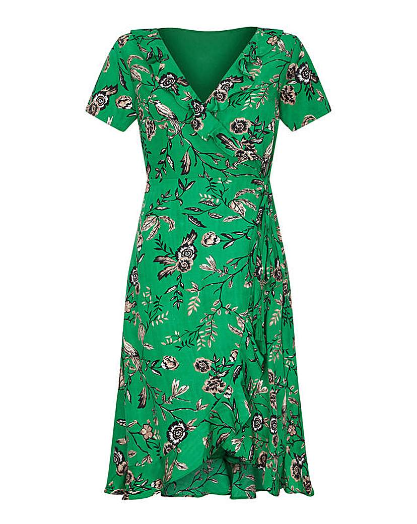 Yumi Curves Flower Wrap Dress