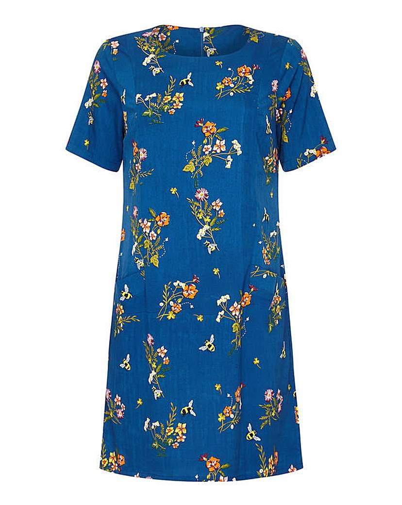 Yumi Curves Floral Print Tunic Dress
