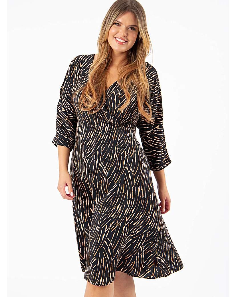 Lovedrobe GB Abstract Print Wrap Dress