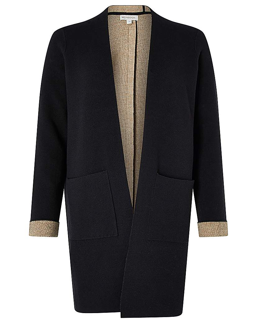 1920s Coats, Flapper Coats, 20s Jackets Monsoon Dana Double Faced Coatigan £70.00 AT vintagedancer.com