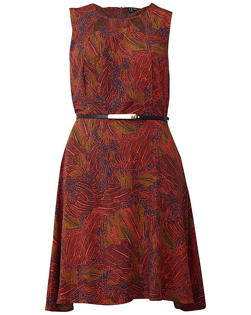 Izabel London Curve Floral Printed Dress
