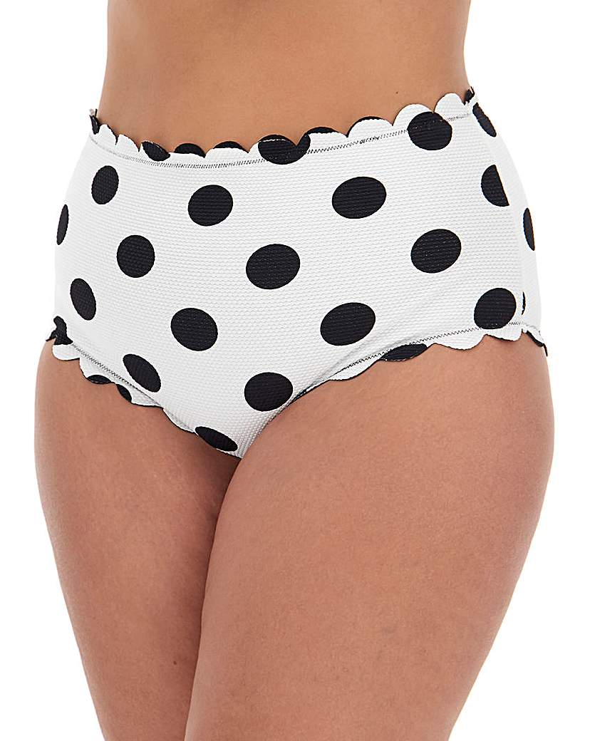 Simply Be Reversible Scalloped High Waist Brief