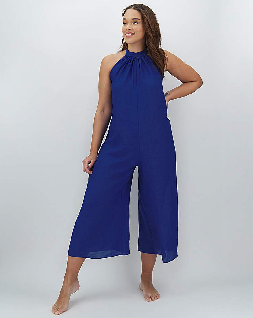 Simply Be High Neck Beach Jumpsuit