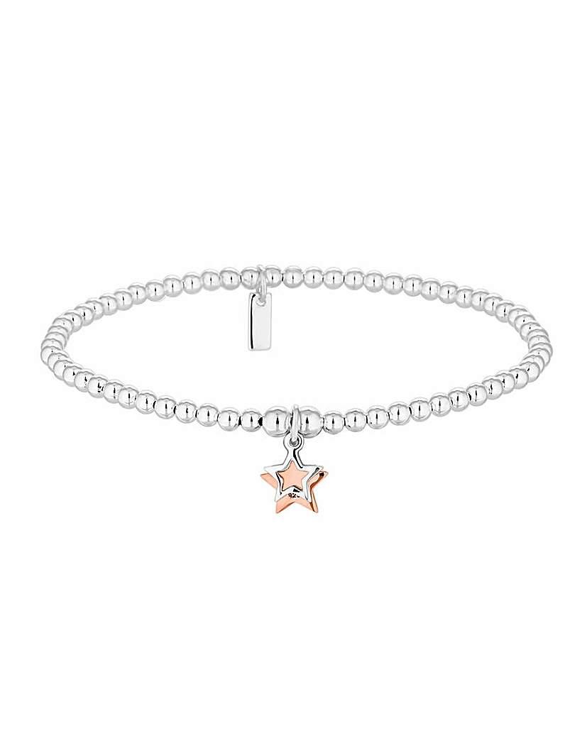 Simply Silver 2 Tone Star Bracelet