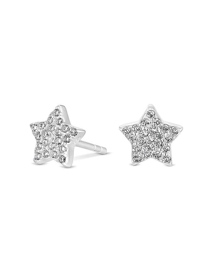 Simply Silver Star Stud Earrings