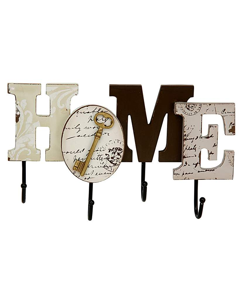 Image of Home Living MDF Wall Hooks Home