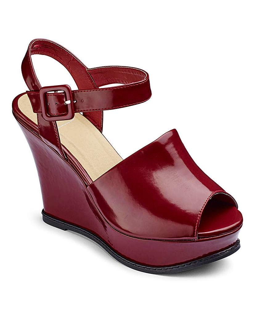 Simply Be Sole Diva High Vamp Wedges E Fit