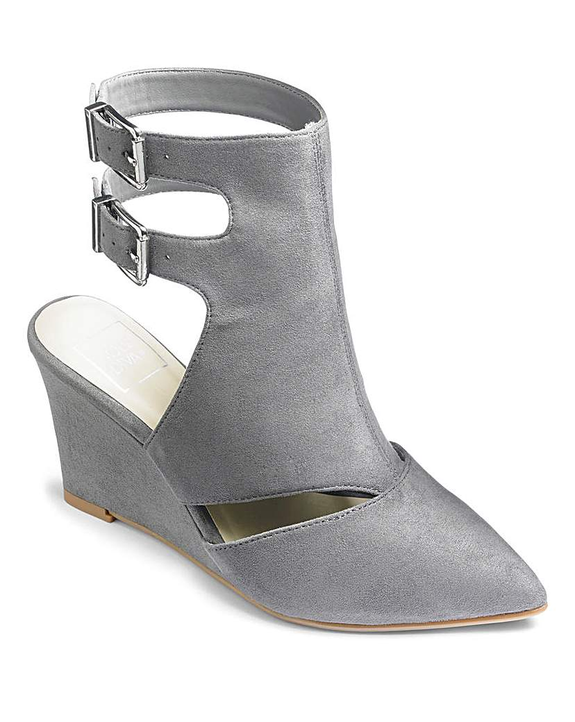 Simply Be Sole Diva Buckle Wedge Shoes E Fit