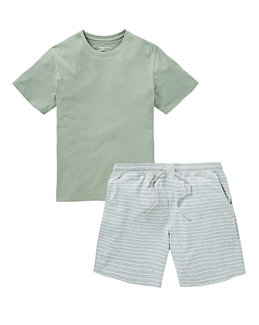 Capsule Green Jersey Shorts PJ Set