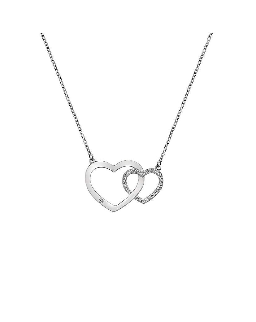 Image of  			   			  			   			  Hot Diamonds Striking Necklace