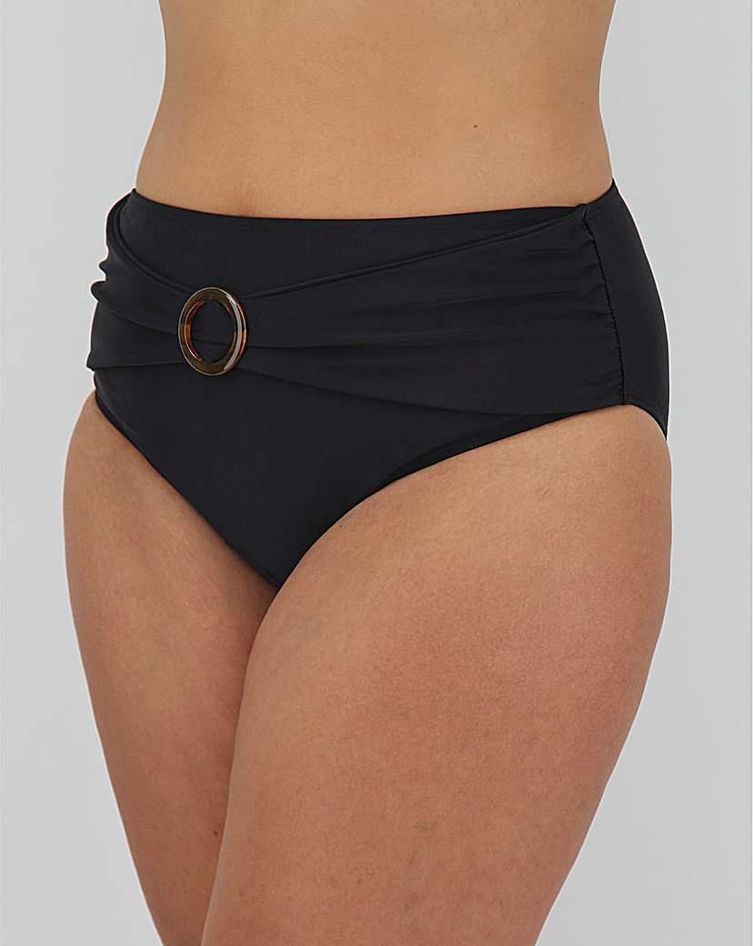Simply Be High Waist Bikini Brief With Trim Detail