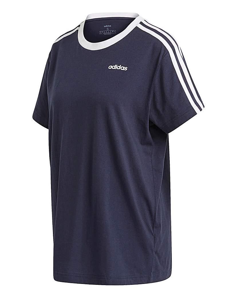 Adidas adidas 3 Stripe Boyfriend T-Shirt