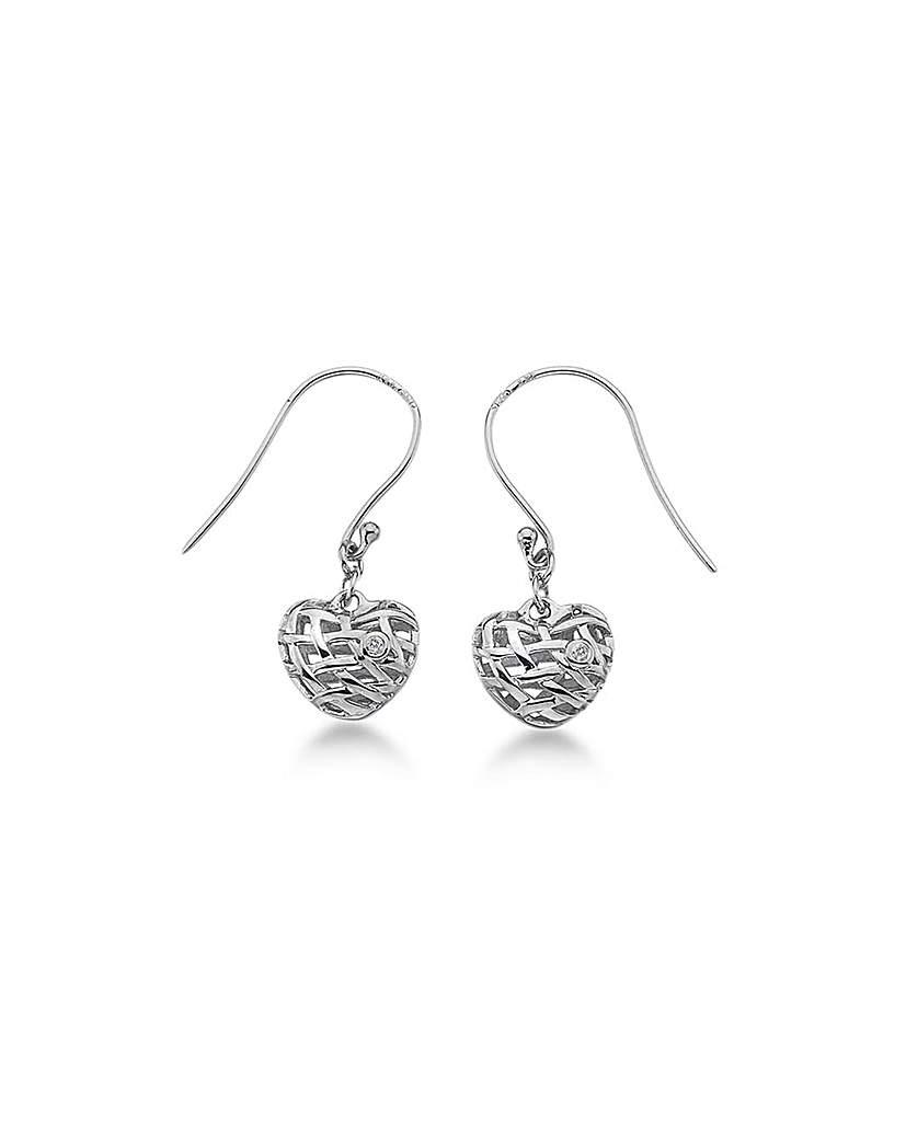 Lily & Lotty Sadie Silver Heart Earrings