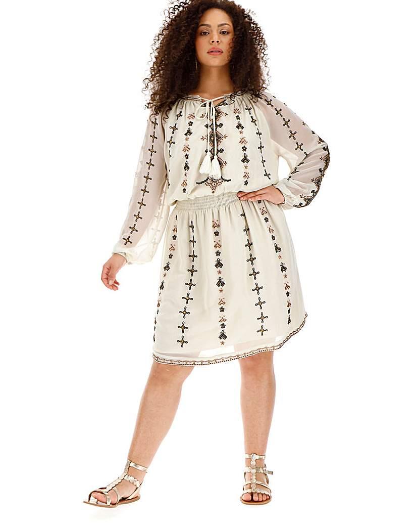 Joanna Hope Sequin Blouson Dress