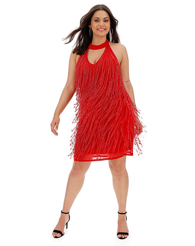 Joanna Hope Beaded Tassle Flapper Dress