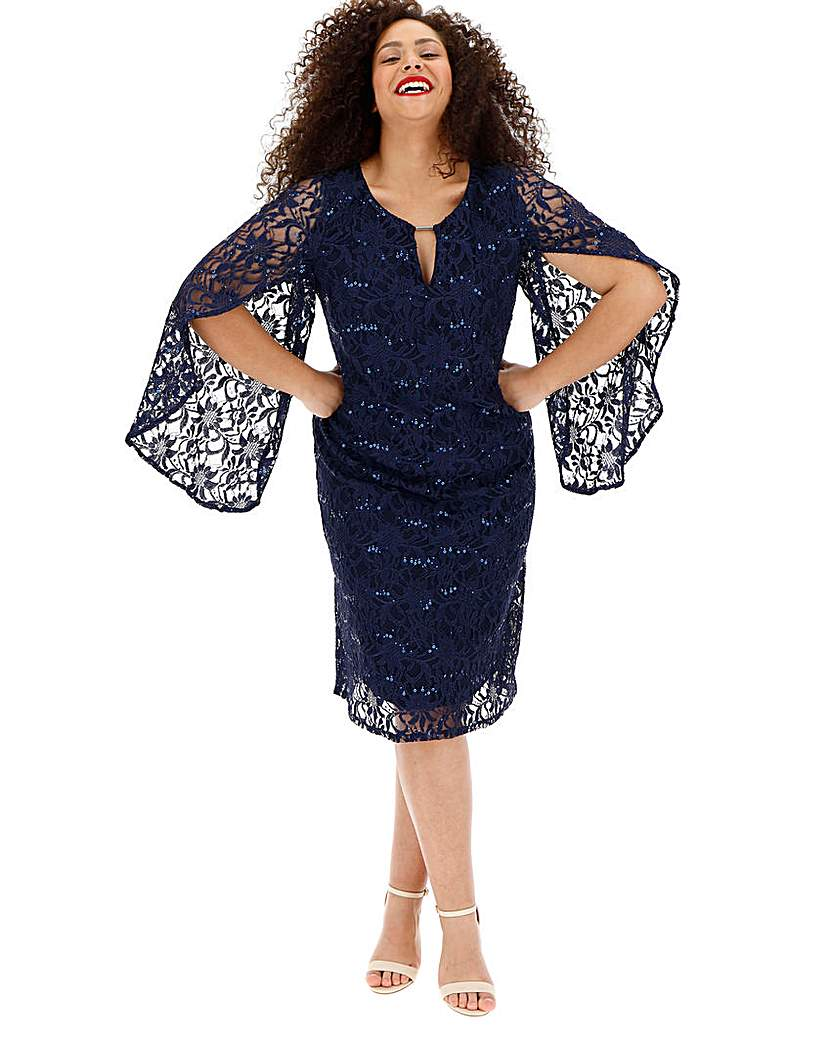 Joanna Hope Sequin Lace Dress