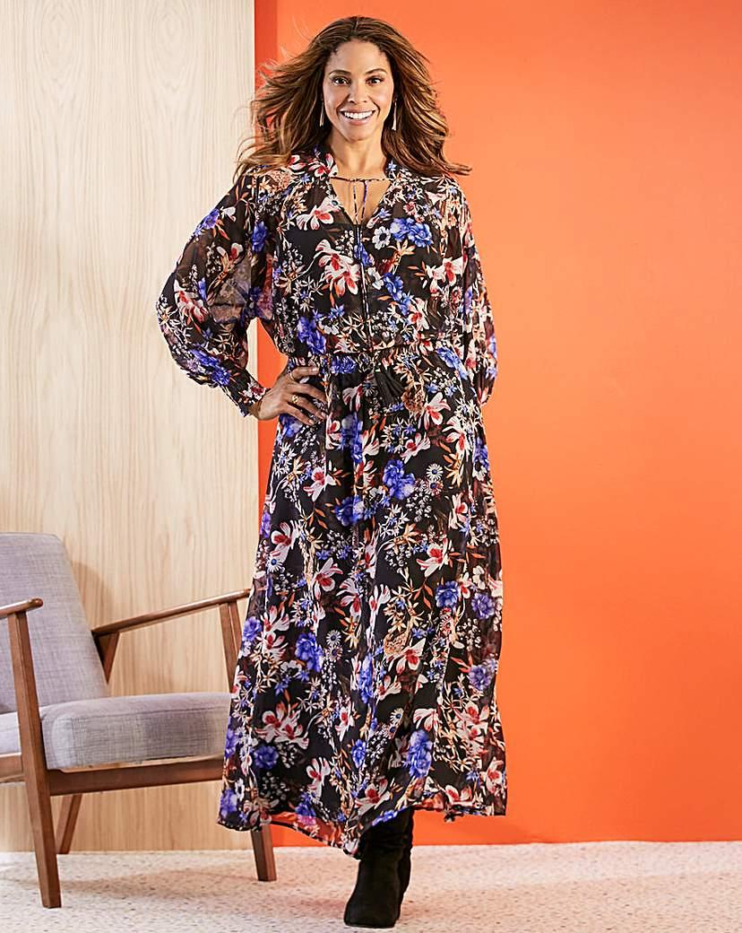 60s 70s Plus Size Dresses, Clothing, Costumes Joanna Hope Folk Maxi Dress £65.00 AT vintagedancer.com