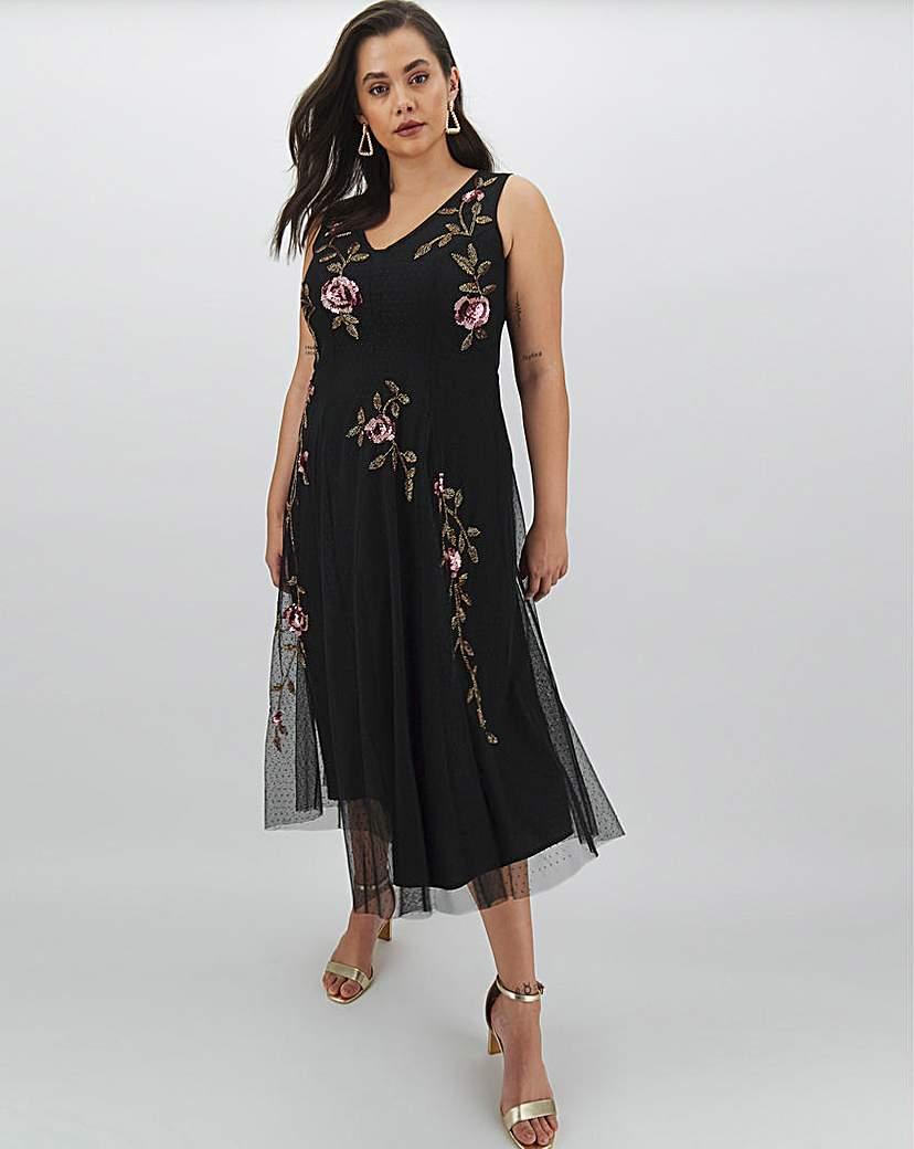 Joanna Hope Joanna Hope Placement Beaded Maxi Dress