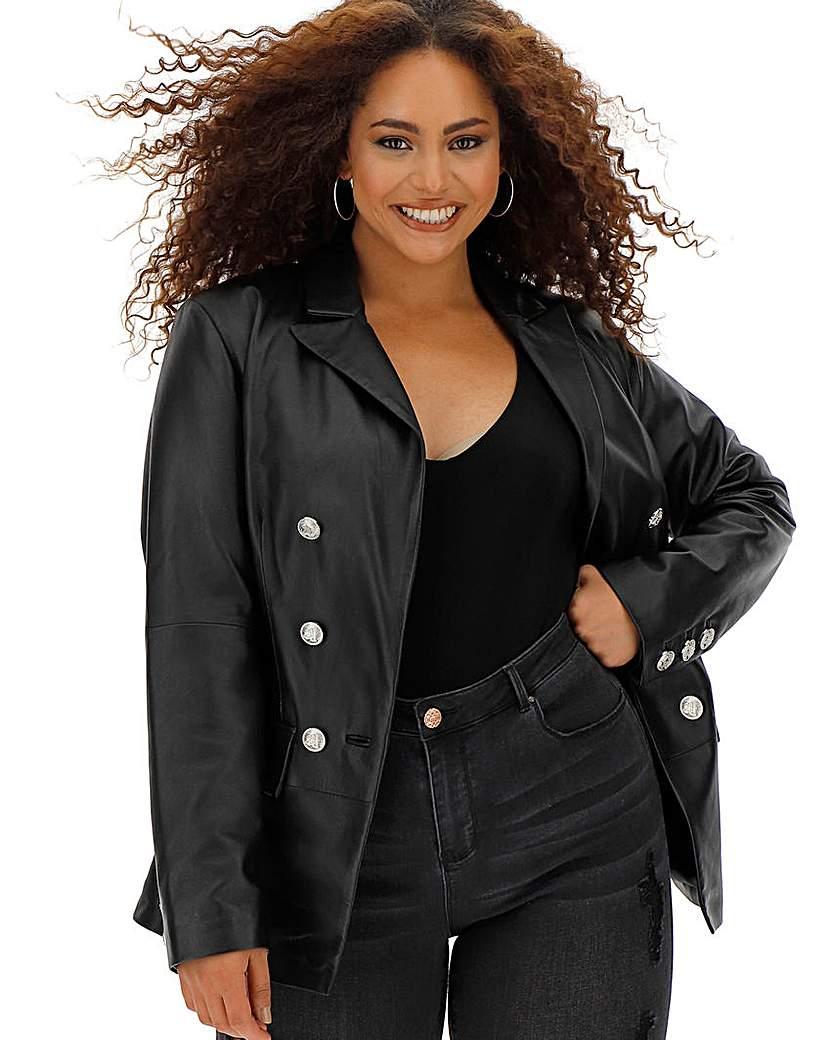 Joanna Hope Leather Blazer
