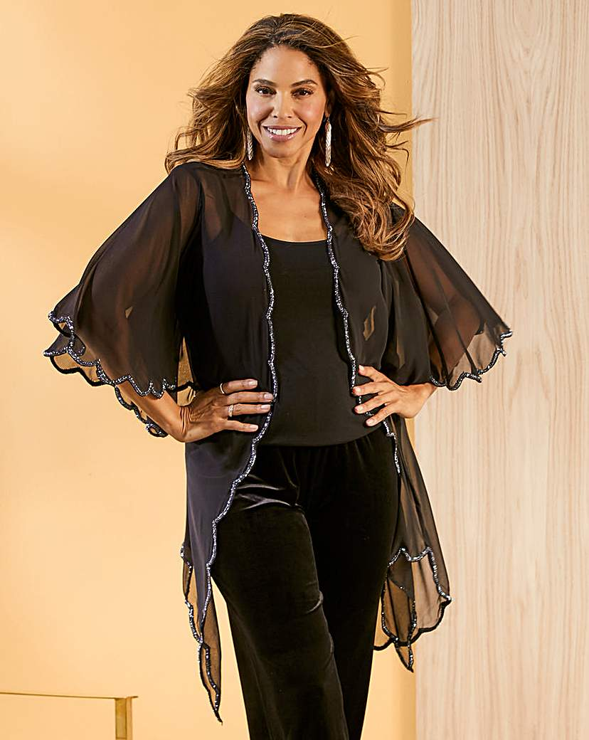 Joanna Hope Scallop Cover Up