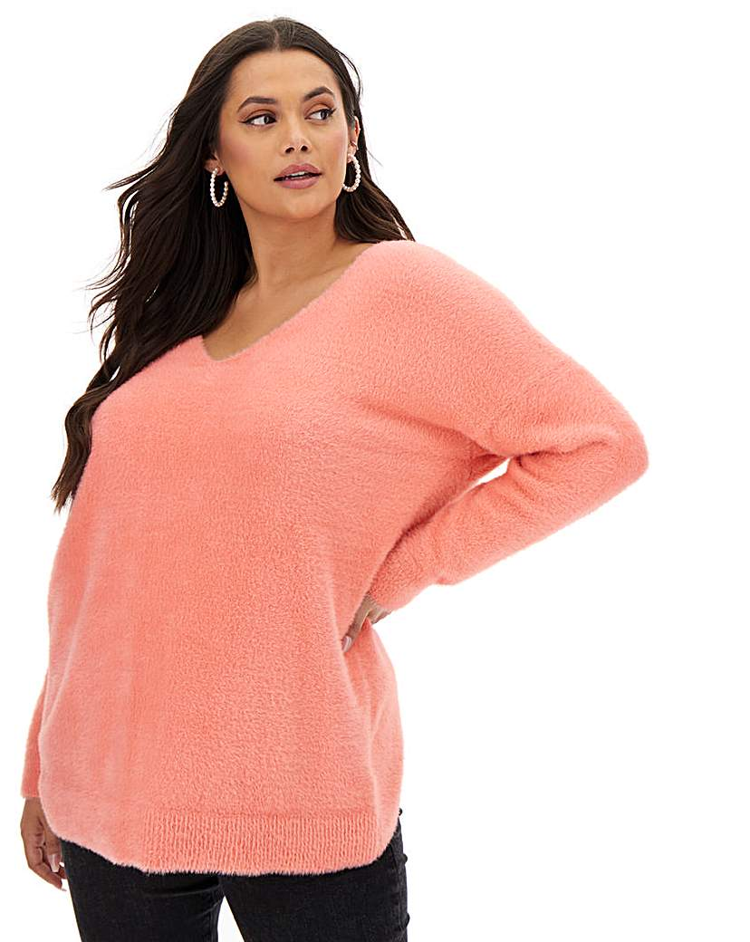 Joanna Hope Joanna Hope Fluffy Wrap Back Jumper