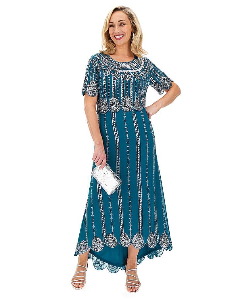 Vintage 1920s Dresses – Where to Buy Joanna Hope Beaded Layer Dress £150.00 AT vintagedancer.com