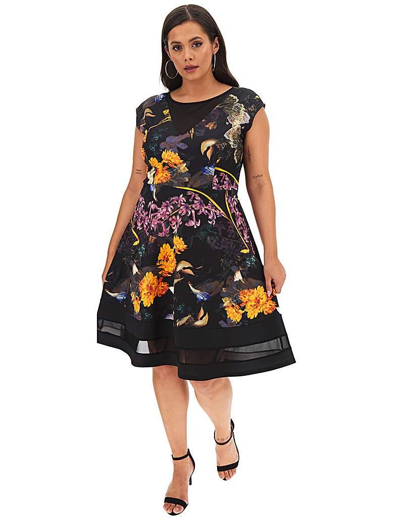 Joanna Hope Joanna Hope Scuba Fit N Flare Dress