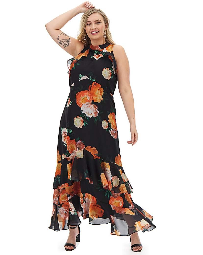 Joanna Hope Joanna Hope Print Frill Maxi Dress