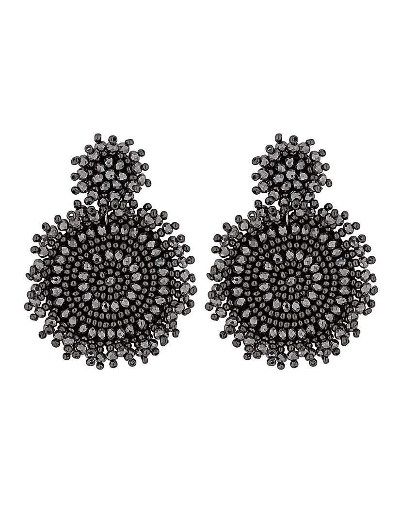 MOOD Black Jangle Disc Drop Earrings