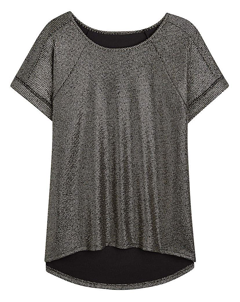 Simply Be Jersey Boxy Top