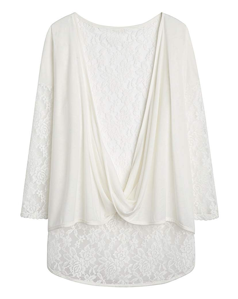Simply Be Lace Twist Cardigan